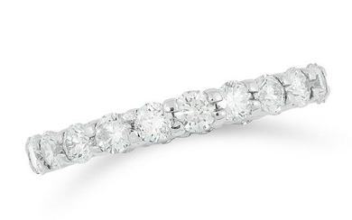 A DIAMOND ETERNITY RING the band set with round cut