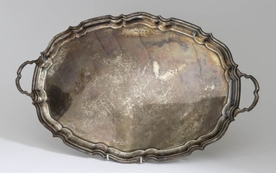 A George VI Silver Oval Two-Handled Tray, by E....