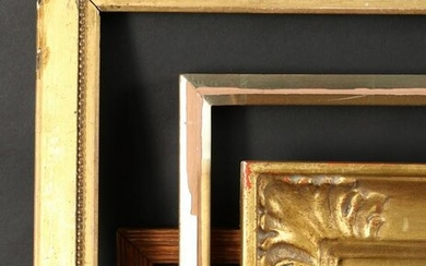 "A Gilt Frame with Acanthus Corners. 12"" x 16"" - 30.5cm"