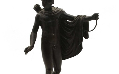 A Grand Tour style bronze of a Grecian figure