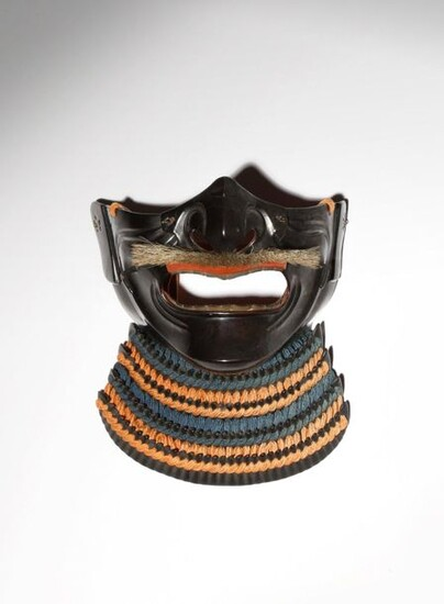 A JAPANESE LACQUER HALF MASK, MENPO EDO PERIOD, 18TH OR...