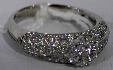 A LADY'S DESIGNER STERLING SILVER RING