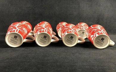 A Lot Of 8 Stanford Park Collection Stoneware Roscher &