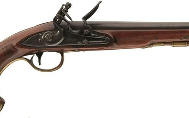 A PAIR OF 22-BORE FLINTLOCK HOLSTER OR LIVERY PISTOLS