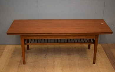 A TEAK MOBILIER EXTENSION COFFEE TABLE (54H X 145W X 55D, 95D EXTENDED CM) (LEONARD JOEL DELIVERY SIZE: LARGE)