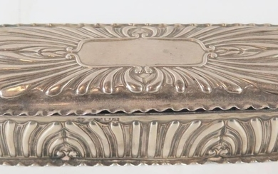 A Victorian Silver Hinged Decorative Box, 18.5cm long, Lond...