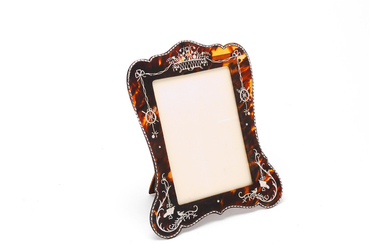 A Victorian silver and tortoiseshell photograph frame