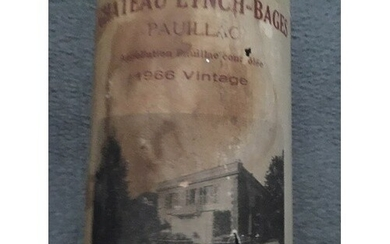 A bottle of Chateau Lynch-Bages. 1966