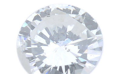 A brilliant-cut diamond, weighing 0.42ct, with report, within a security seal.