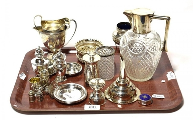 A collection of silver and silver-plate, including: a George III...