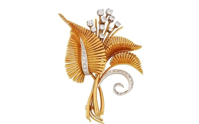 A diamond-set brooch, attributed to David Morris, circa 1960