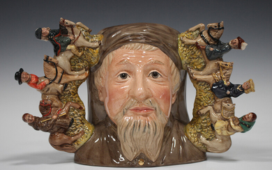 A large Royal Doulton limited edition two-handled character jug Geoffrey Chaucer, D7029, No. 368 of