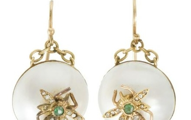 A pair of Antique earclips