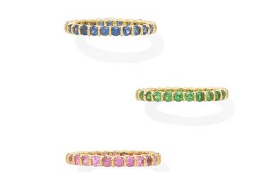 A set of three eternity bands