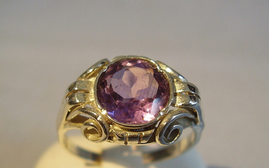 AMETHYST RING ARTS AND CRAFTS SILBER 935.