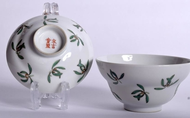 AN EARLY 20TH CENTURY CHINESE FAMILLE ROSE BOWL AND