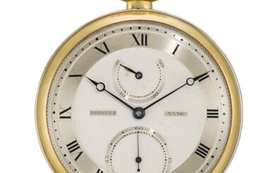 AN EXCEPTIONAL AND HEAVY TWO-COLOUR GOLD OPEN-FACED KEYLESS ONE-MINUTE TOURBILLON WATCH WITH UP-AND-DOWN INDICATION NO. 3356 'MONTRE RÉGULATEUR À TOURBILLON' SOLD TO MONSIEUR GUILLOMOT ON 13 SEPTEMBER 1939 FOR 30,000 FRANCS