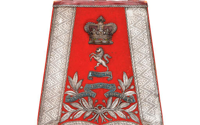 An Officer's Full Dress Sabretache To The West Kent Yeomanry Cavalry, Circa 1870-1901