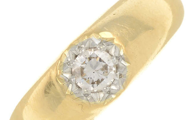 An early 20th century 18ct gold old-cut diamond ring.