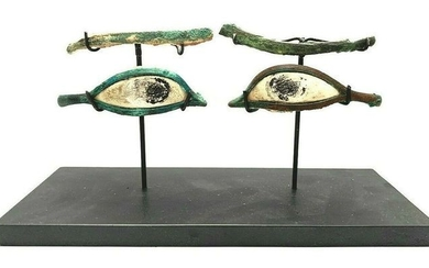 Ancient Egyptian Bronze eyes and eyebrows