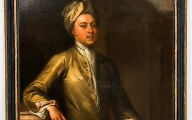 Anglo-Indian Portrait of a Gentleman Oil on Canvas