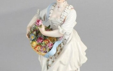 Antique porcelain Meissen figure. Circa 1880. Knauf