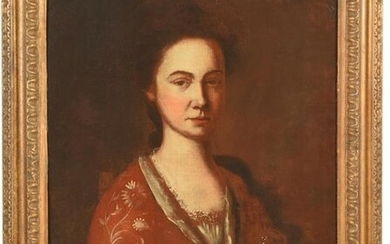 Attributed to the Pepperell Limner, Portrait of a woman