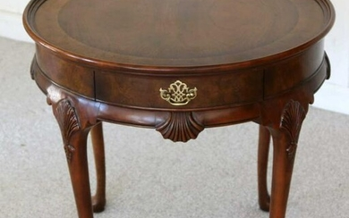 BAKER QUEEN ANNE BANDED MAHOGANY CENTER TABLE