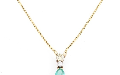 Brillant Smaragd Collier