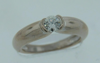 CARTIER 1996 0.30-ct Diamond White Gold ENGAGEMENT RING