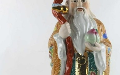CHINESE PORCELAIN IMMORTAL FIGURAL SCULPTURE