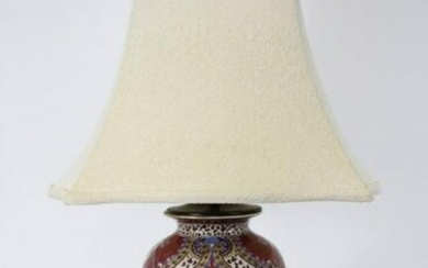 CHINESE PORCELAIN VASE NOW LAMP