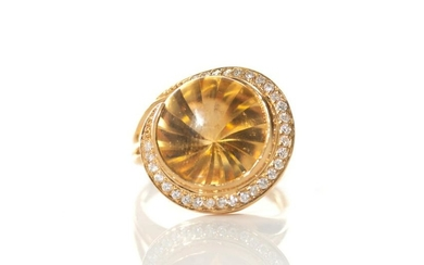 CITRINE COCKTAIL RING, 8g