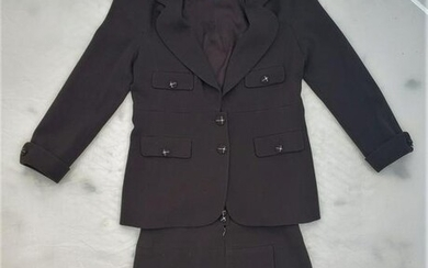 Chanel Ladies Suit With Chanel Buttons Size 46