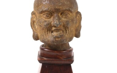 Chinese Carved Stone Luohan Head, Song Dynasty FR3SHLM