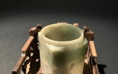 Chinese Song Dynasty White Jade Cong