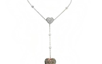 Chopard - 18 kt. White gold - Necklace with pendant, 6.27 carats certificate Diamond