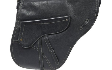 Christian Dior Large Black Crossbody Saddle Bag