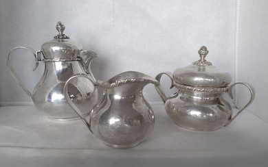 Coffee service (3) - .800 silver - Passeroni - Vicenza- Italy - First half 20th century
