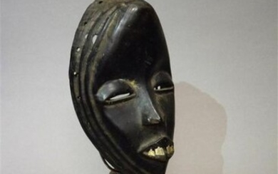 Dan Mask Ivory Coast Wood, metal H. 22...
