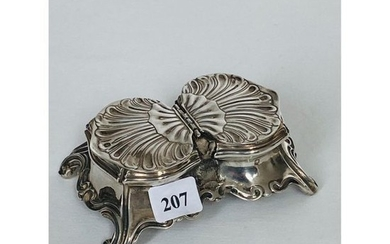 Double covered solid silver Minerva stamped Saltwell on...