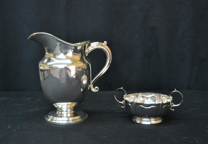 ENGLISH SILVER PLATE PITCHER &