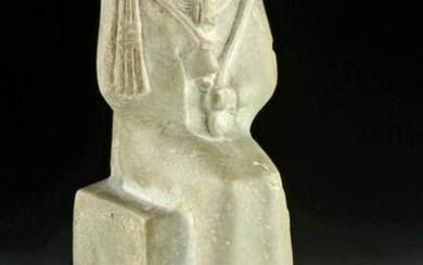 Egyptian Late Dynastic Stone Figure - Seated Osiris