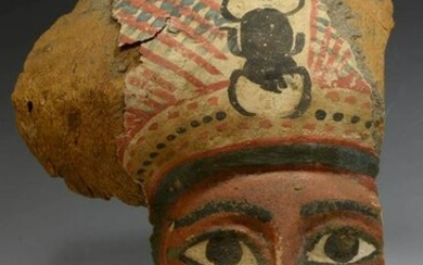 Egyptian Sarcophagus Mask, Late Period, ca. 716 - 300