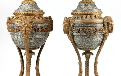 Empire-Style Bronze-Mounted Cassolettes