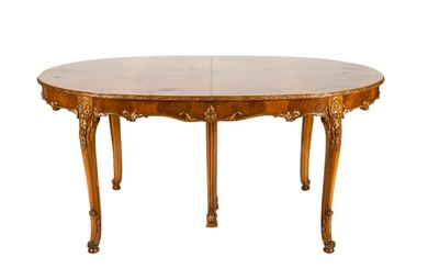 FRENCH BURLED WALNUT DINING TABLES