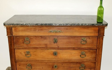 French Louis Philippe marble top commode