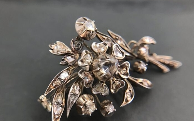 Georgian Silver - Brooch Diamond