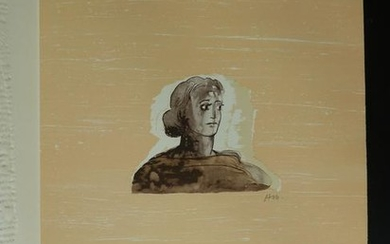 HENRY MOORE Hand Signed Lithograph British Art 1973