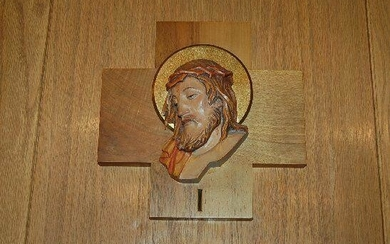 """Hand Carved Wood 14 Stations of the Cross + 9 1/2"""" x 9"""